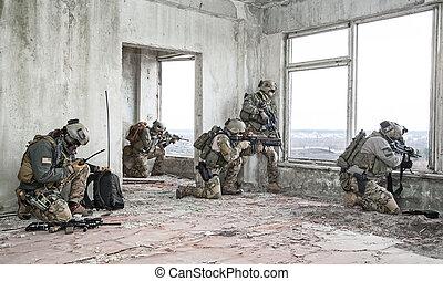 Rangers, em, ação,