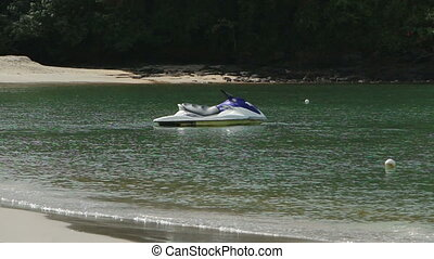 Lonely Jet ski - Vacant Jet ski waiting customer