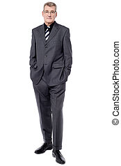 Full length image of handsome businessman - Confident...
