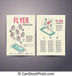 Abstract Brochure Flyer design vector template. social...