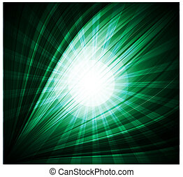 A green color design with a burst