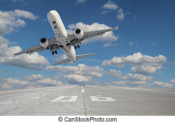 Takeoff aircraft - Impressive view of the aircraft taking...