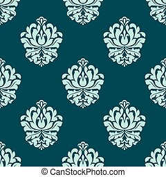 Seamless pattern with baroque floral elements - Baroque...
