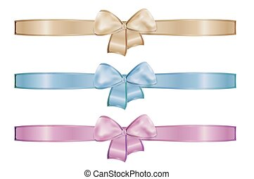 collection of the three ribbons