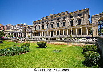 Old palace in Corfu town, Greece - Old palace in Corfu town...