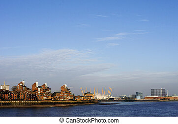 Blackwall Point London - The 02 on the Thames in Greenwich...