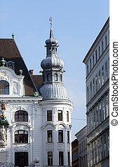 Viennese Classical style building in Vienna, Austria on...