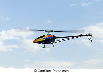 Remote controlled helicopter - Flying remote controlled...