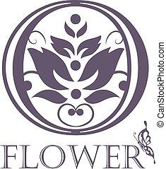 Flower Background Template.  Lotus symbol. Logo design