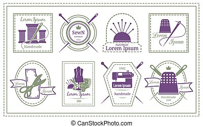 Retro Tailor Labels or Needleworks Emblems - Assorted Retro...