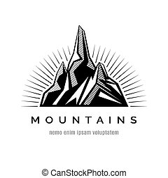 Mountains logo for a firm, company or corporation, travel...