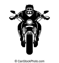 Biker icon Man on a motorcycle - Biker icon A man in a...
