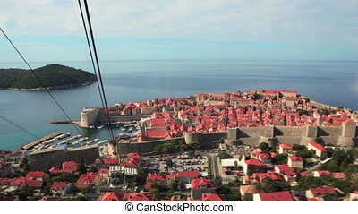 Dubrovnik cable car - Old city cable car going to the top of...