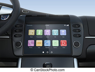 Smart multimedia system for car - Smart touch screen...