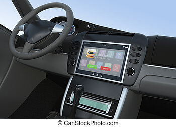 Notification of incoming call for smart car console.