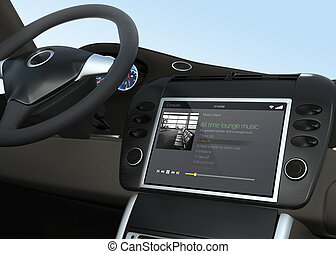 Music player app for car entertainment system