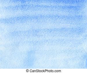 blå, vattenfärg, abstrakt, bakgrund