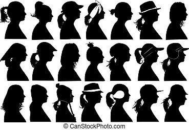Illustration of women profiles