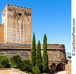 Exterior view of Alhambra, Spain