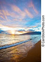 Kihei Sunset on Beach