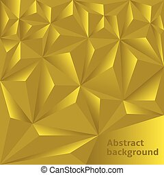 Golden Polygonal background - Golden abstract polygonal...