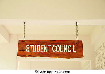 sign on a background