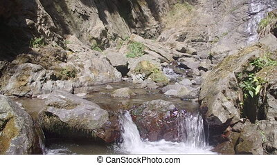 mountain stream - the flow of a mountain stream