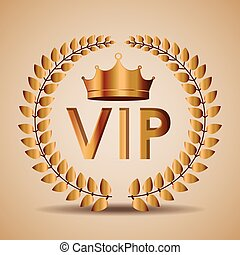 VIP design, vector illustration