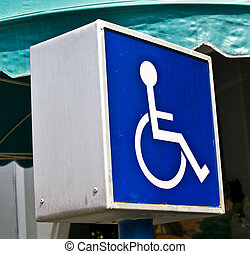Disabled Sign - Blue disabled wheelchair sign for disable...