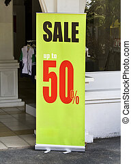 Copyspace Sale Banner - Green sale display banner up to 50...