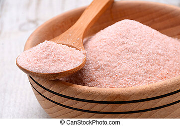 Himalayan pink crystal salt high resolution image
