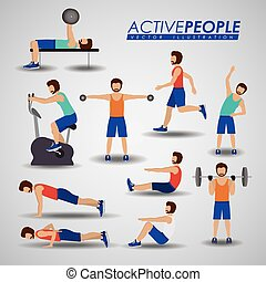 Fitness design, vector illustration. - Fitness design over...