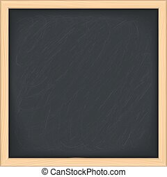 Blackboard - Black blackboard on white background, vector...