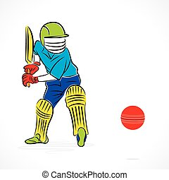 cricket player pose banner deisgn - cricket player ready to...