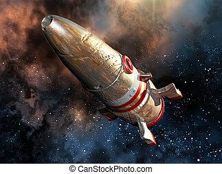 dañado, Nave espacial,
