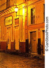 Guanajuato streets- Mexico - Illuminated streets of the...