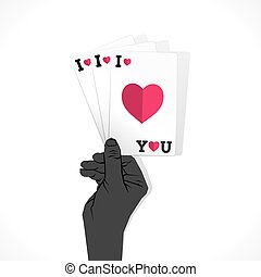 valentine day greeting card design
