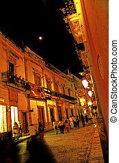 Cervantino festival- Guanajuato, Mexico - Crowded streets of...