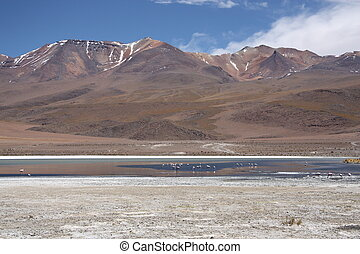 Andes - Remote mountain landscape of Andes, Bolivia