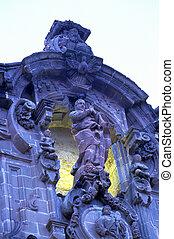 Church- Guanajuato, Mexico - Baroque facade of the Temple de...