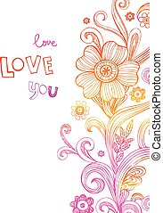 Greeting card for wedding or valentines day - Vector...