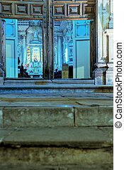 Church- Guanajuato, Mexico - Front doors and inside of the...