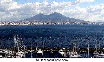 Italy, Naples vulcano Vesuvio - Daytime seascape, view from...