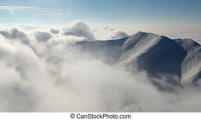 Winter Slovakia mountain,Time lapse
