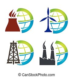 Energy icon set, abstract modern icon set for your design