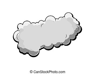 Retro Comic Cloud Vector Design - Abstract Comic Stormy...