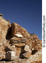 A small inukshuk - A small Inukshuk on the top of the...