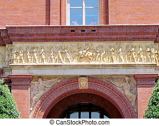 Washington National Building Museum detail of facade 2013