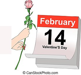 February 14, Valentines Day - Illustration symbolic...