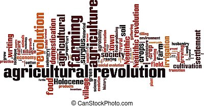 Agricultural revolution word cloud concept Vector...